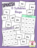 Bingo Game: Reading O Syllables (Spanish)