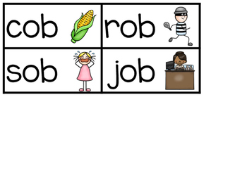 -OB Word Family Sentence Building