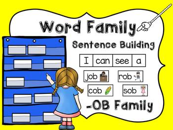-OB Word Family Sentence Building