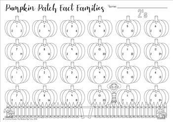 {FALL Multiplication} {NOVEMBER multiplication} {Fact familyworksheets}