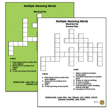 Multiple Meaning Words Bundle of Fun!