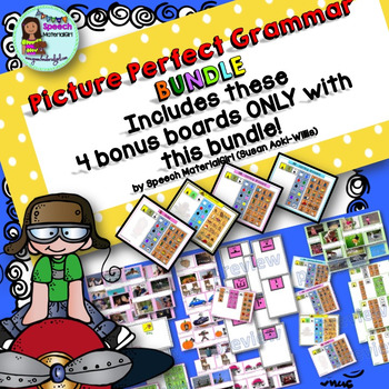 Speech Therapy PICTURE PERFECT GRAMMAR bundle bonus sentence building speddeals