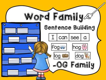 -OG Word Family Sentence Building