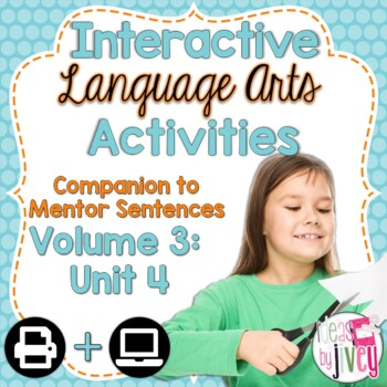 Interactive Language Arts Activities: Vol 3, FOURTH Unit (Gr 3-5)