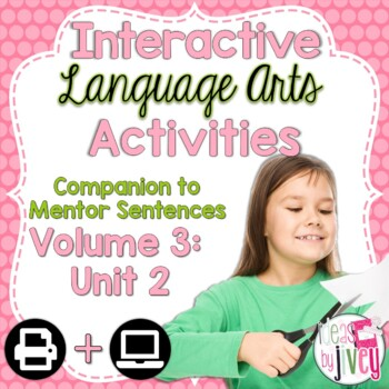Interactive Language Arts Activities: Vol 3, SECOND Unit (Gr 3-5)