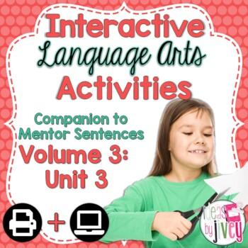 Interactive Language Arts Activities: Vol 3, THIRD Unit (Gr 3-5)