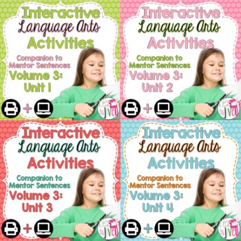 Interactive Language Arts Notebook (Vol 3) Bundle (Grades 3-5) - Four Units!