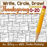 Thanksgiving Number Worksheets 0-20 (Counting Worksheets)