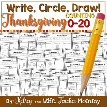Thanksgiving Number Worksheets 0 20 Counting Worksheets By Wife