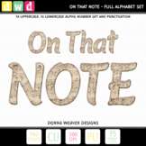 Alphabet ON THAT NOTE Sheet Music Letters Numbers Printable Clip Art