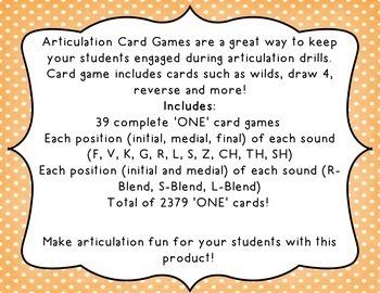 Articulation 'ONE' Games - BUNDLE 14 Sounds