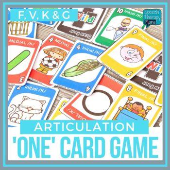 Articulation 'ONE' Games - Set 1 (K, G, F, V)
