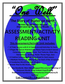"""""""ONE WELL"""" Activity/Assessment 80 Page CCSS Reading Unit"""