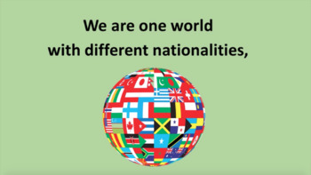 'ONE WORLD' ~ MP4 Curriculum Karaoke™ READ, SING & LEARN about multiculturalism