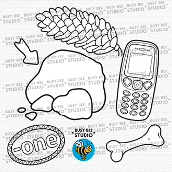 """-ONE"" Word Family Clip Art | Magic E Clipart"