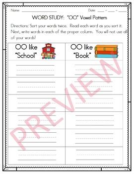 """OO"" Word Work & Word Study"