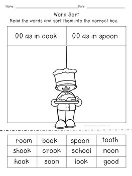 """Word Work with """"OO"""" Sounds"""