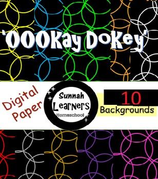 'OOOkay Dokey' 10 digital papers / backgrounds