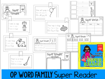 Word Family -OP Emergent Reader Fluency Reading Comprehension