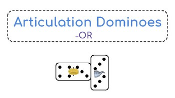 -OR Vocalic R Articulation Dominoes