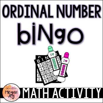 Ordinal Numbers Bingo Game