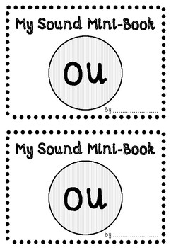 'OU' PHONIC SOUND MINI-BOOK