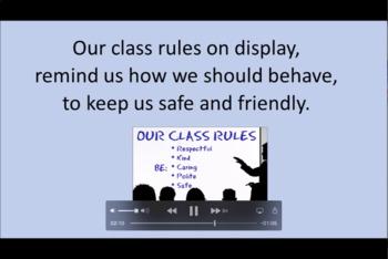'OUR CLASS RULES ~ OK!' ~ Curriculum Karaoke™ MP4 Song & Lyrics for Whiteboard