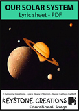 'OUR SOLAR SYSTEM ~ Lyrics PDF: Children READ & LEARN Important Facts