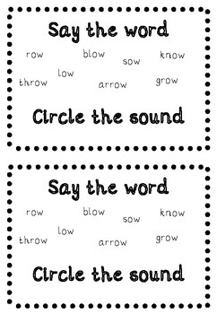 'OW' PHONIC SOUND MINI-BOOK