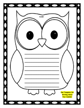 """""""OWL"""" About Your Summer Vacation Activity Packet"""
