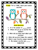 """OWL"" About Your Summer Vacation Activity Packet"