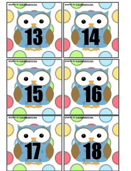 """OWL"" CALENDAR PIECES"