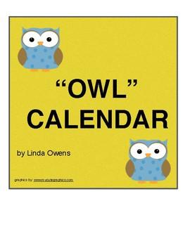 """OWL"" CALENDAR PIECES"