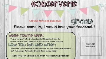 #Observeme : Welcome people into your class for peer observations!