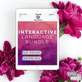 No Print No Prep Interactive GROWING Language Bundle