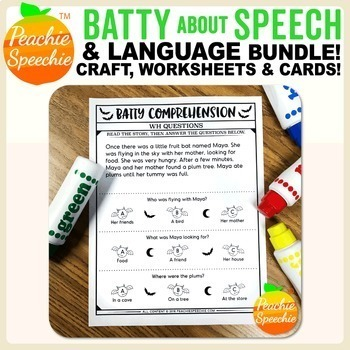 Batty About Speech and Language BUNDLE