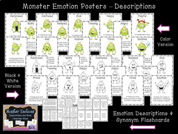 Feelings and Emotions Monster Themed Bundle