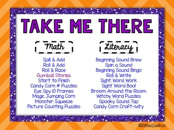 || October Math & Literacy Centers || • Halloween Pack •