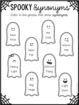 Halloween Language Activities Pack- No Prep- Speech Therapy, EAL/EFL/ELA