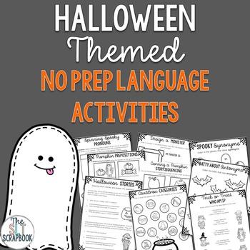 Halloween Language Activities Pack- No Prep- Speech Therap