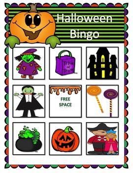 Halloween Bundle--Vocabulary Story, Cariboo, Bingo, Roll&Cover
