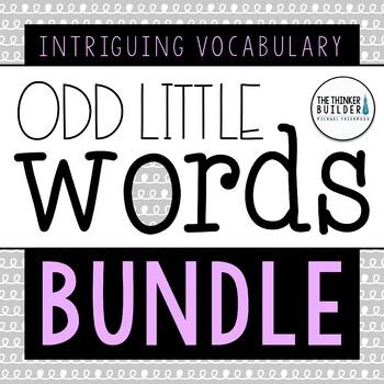 """Odd Little Words"" BUNDLE: 30 Weeks of Vocabulary Rich Morning Work, Word Work"