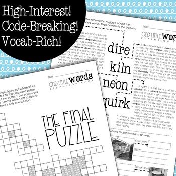 """""""Odd Little Words"""" EXPANSION PACK: Vocabulary Rich Morning Work {6 Weeks}"""