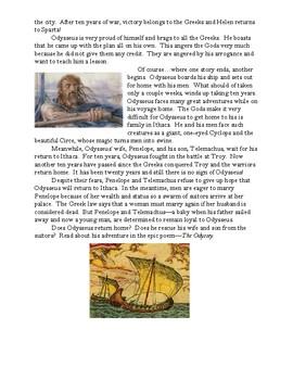 """Odysseus' Long Voyage Home"" - Summarizing The Iliad and The Odyssey Storyboard"