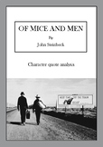 'Of Mice and Men' quote analysis