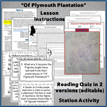 """Of Plymouth Plantation"" by William Bradford"