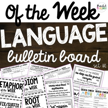 """Of the Week"" Language Bulletin Board! Set 1"