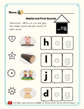 -Og Word Family Kit 25 pages (Blend Seg CVC) TK, K, 1st, 2nd