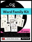 -Og Word Family Kit 25 pages (Blend Seg CVC) TK, K, 1st, 2nd