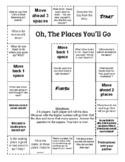 """""""Oh the Places You'll Go"""" Comprehension Game Board"""